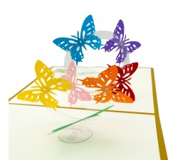 3D blahoželanie - Motýle