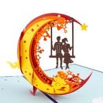 3D blahoželanie - Pár na hojdačke