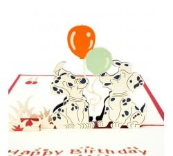 3D blahoželanie - Psi