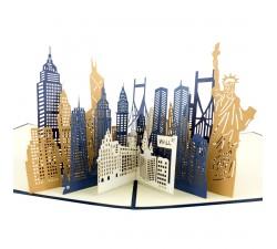 3D blahopřání - New York City