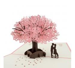 3D želanie - pár se sakurou