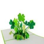 3D přání - čtyřlístek pro štěstí
