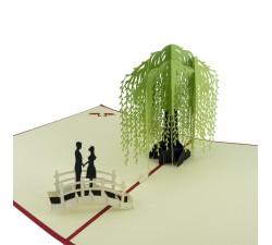 3D přání - pár pod vrbou