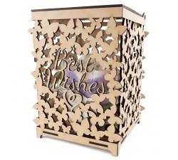 Rustikální box na svatební gratulace