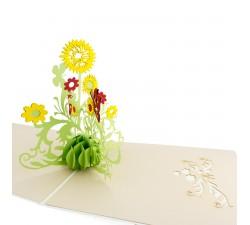 3D želanie - Puget kvetín