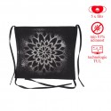 SET: Maľovaná rúška Mandala II. - čierna + 5x filtr