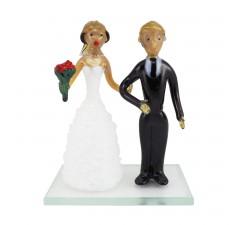 Skleněná figurka na svatební dort