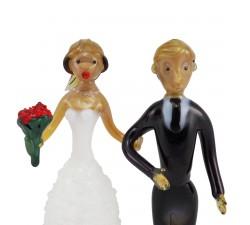 Sklenená figúrka na svadobnú tortu