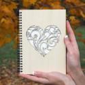 Dřevěný blok - Srdce