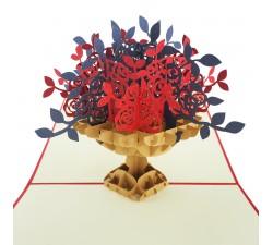 3D blahoželanie - Kytice