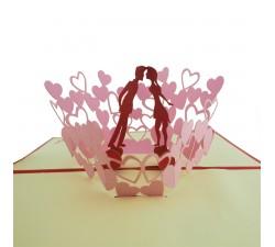 3D přání - Valentýn - pár