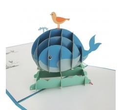 3D blahoželanie - Veľryba