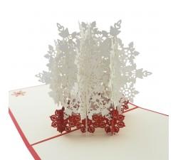 3D přání - Sněhová vločka