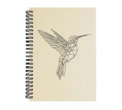 Dřevěný blok - Kolibřík