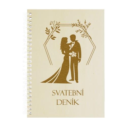 Dřevěný blok - Svatební deník