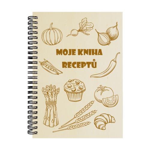 Dřevěný blok - Moje kniha receptů