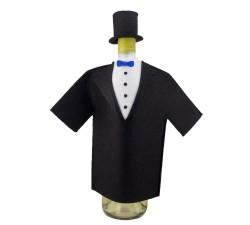Oblek na lahev vína - ženich