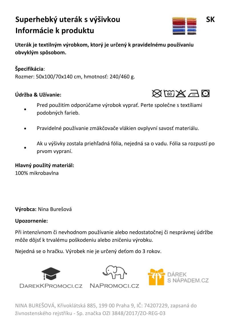 Produktová karta - studentská čepice STANDARD